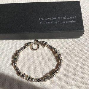 Silpada  Sterling 925 Bracelet w/iridescent beads